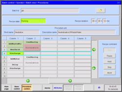 Uporabniški vmesnik za izvajanje recepta