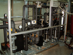 A system for control of the testing line for district heating substations
