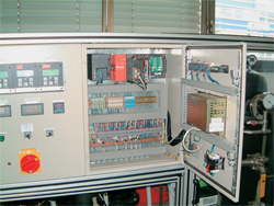 A system for the control of the pressure difference at the LAV testing line in Danfoss Trata