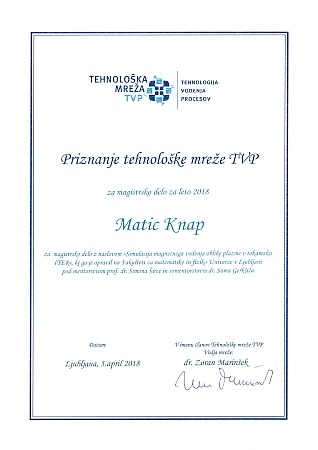 Technology Network PCT Certificate of Recognition